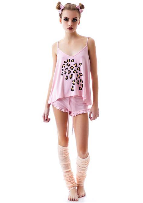 wildfox couture leopard print cami set dolls kill