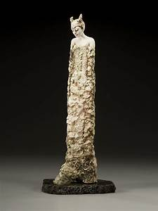 Figurative Ceramic Sculpture: 'Birth of Pan' by Adele Macy