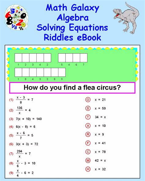 8th grade math riddles worksheets math riddles for