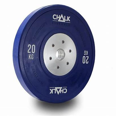 Bumper Competition Plate Strength 0kg Chalk Pair