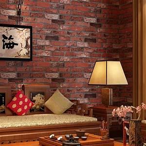 Beibehang PVC retro brick wall hotel hotel factory ...