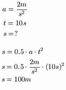 Einheiten Berechnen : gleichm ig beschleunigte bewegung ~ Themetempest.com Abrechnung