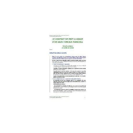 modèle contrat de prêt à usage quelques liens utiles