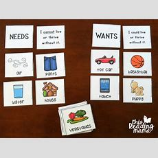 Wants Vs Needs Learning Pack {free}  This Reading Mama