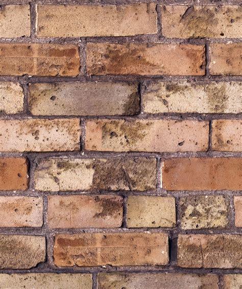 Old Brown Bricks Wallpaper Realistic Exposed Brick
