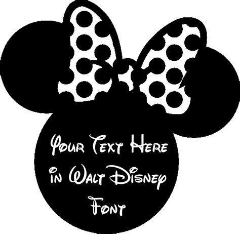 custom decal sticker mickey minnie mouse text  walt