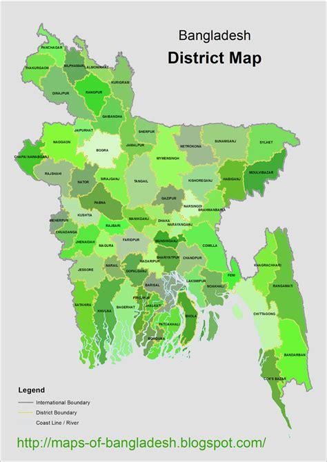 maps  bangladesh district map  bangladesh