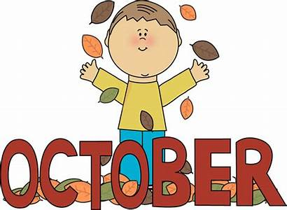 October Month Autumn Clip Word Graphics Burgundy