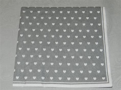 Servietten Grau by Servietten Herz Grau 33x33cm Ib Laursen Speicher Und
