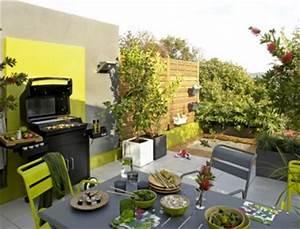 cuisine d39ete amenagee sur une terrasse With idee d amenagement exterieur 6 6 decorations de terrasse abritees par de la verdure