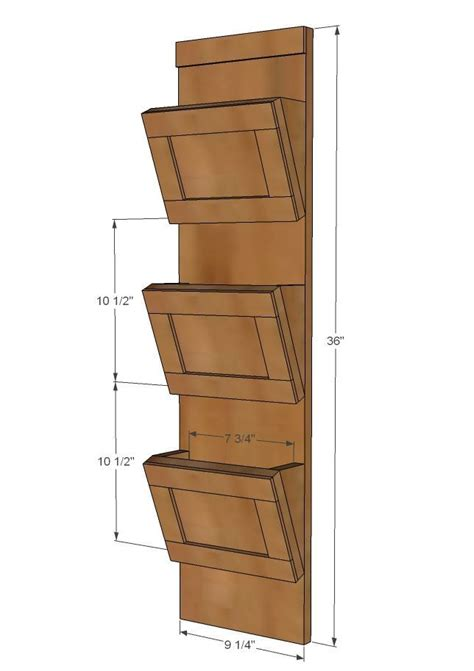 wood mail sorter  key hooks easy woodworking
