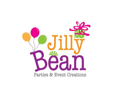 49 Colorful Bold Logo Designs for JillyBean Parties