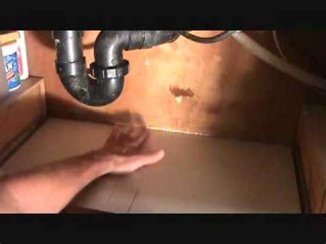 fix kitchen sink leak how to fix a leak under a kitchen sink part 2 youtube
