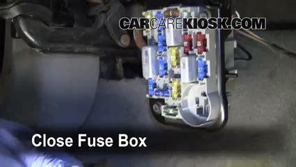 interior fuse box location   ford tempo