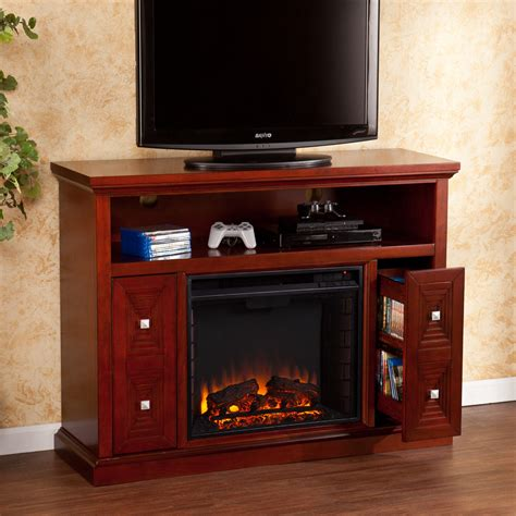 electric fireplace tv stand wildon home 174 faulkner tv stand with electric fireplace