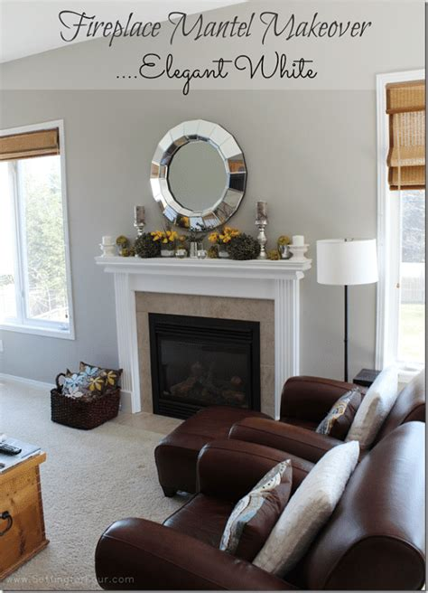 fireplace mantel reveal  makeover  paint