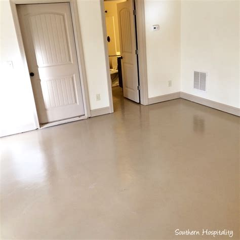 how to paint a concrete floor southern hospitality