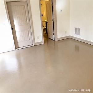 How to paint a concrete floor southern hospitality for Can i paint a concrete floor
