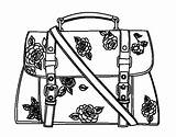 Coloring Handbag Pages Flowered Aesthetic Borsa Colorare Colorear Disegni Coloringcrew Template sketch template