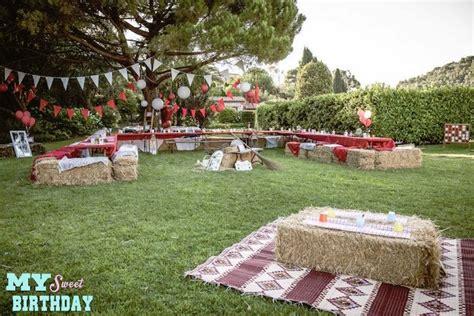 karas party ideas rustic outdoor farm  garden party
