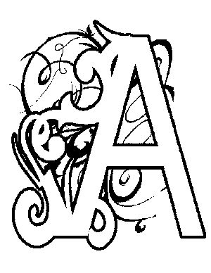 illuminated letters coloring pages eskayalitim