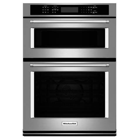 combo microwave and oven shop kitchenaid self cleaning convection microwave wall