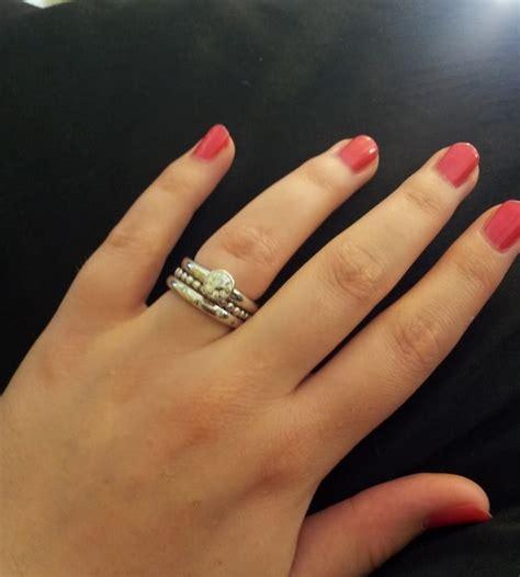show me your 3 4 carat diamonds on a size 6 5 7 finger