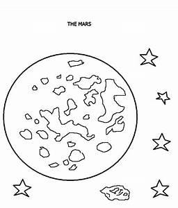 Planet Marss - Free Colouring Pages