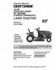 Craftsman 917 27103 User Manual