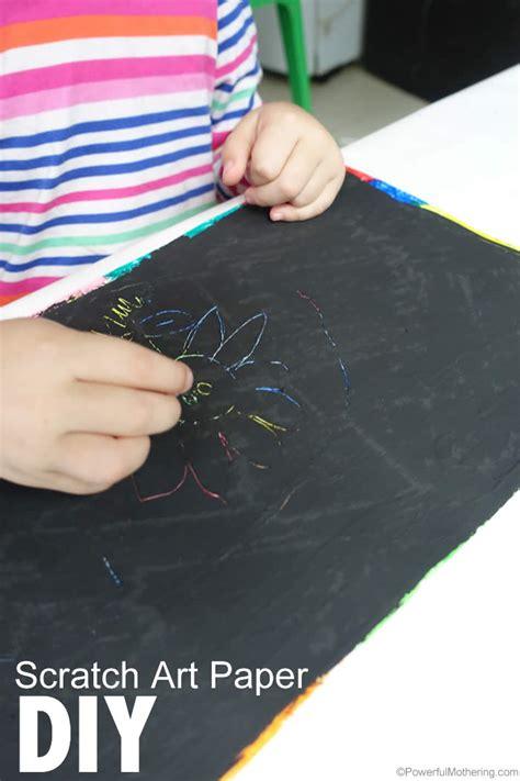 diy scratch art paper  kids