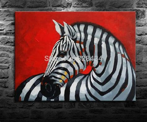 2018 On The Canvas, Hand Painted Wall Art Red Background