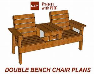 Free Patio Chair Plans - How to Build a Double Chair Bench