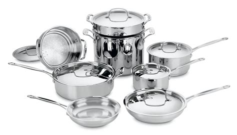 cookware cuisinart stainless steel piece classic chef sets kitchen pots pans chefs bakeware pan pot skillet pc ultimate choice cooking