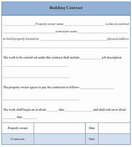contract template for building format of building With building contracts template