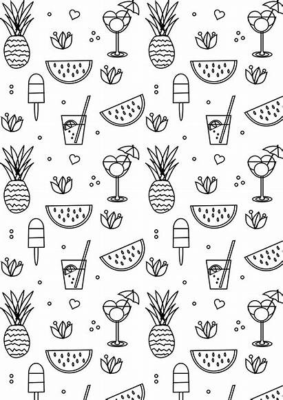 Coloring Summer Printable Pages Sheets Cool Aesthetic