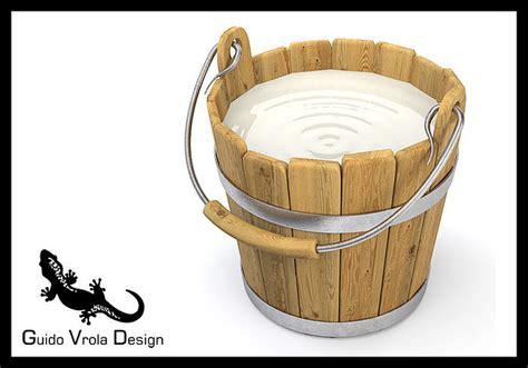 3d Model Milk Bucket