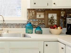 7 budget backsplash projects diy With kitchen cabinets lowes with diy framed wall art