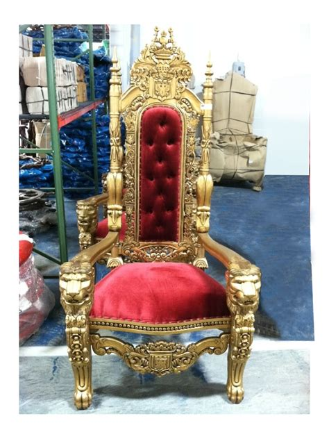 queen throne red gold miami prop rental