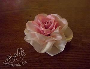DIY Pretty Satin Ribbon Roses – Free Tutorial - The ...