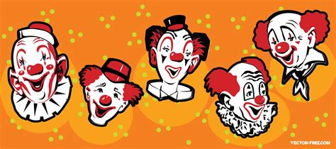 Funny Clowns Vector Art And Graphics
