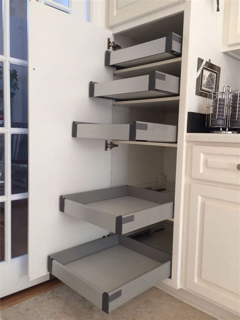 Kitchen Cupboard Pull Out Shelves by Ikea Rationell Pull Out Shelves W Ders Retrofitted