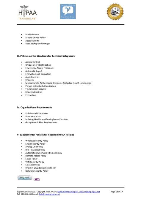hipaa compliance template suites