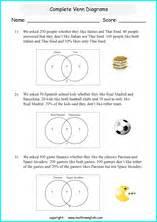 printable venn diagram worksheets  grade    math