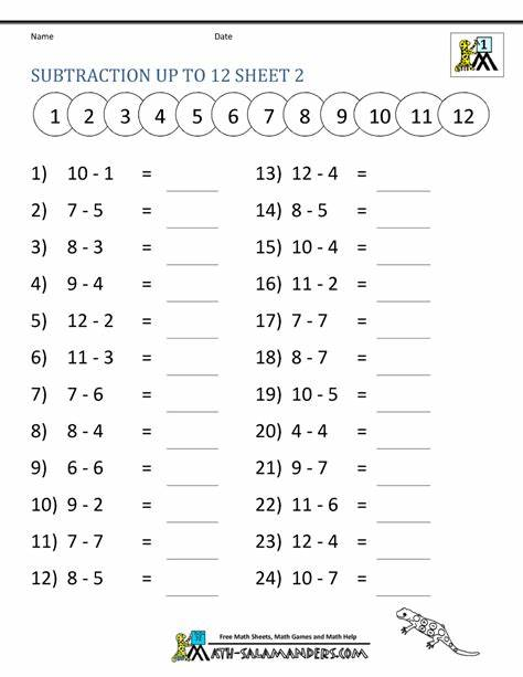 21 calculus worksheet templates are collected for any of your needs. Math Subtraction Worksheets 1st Grade