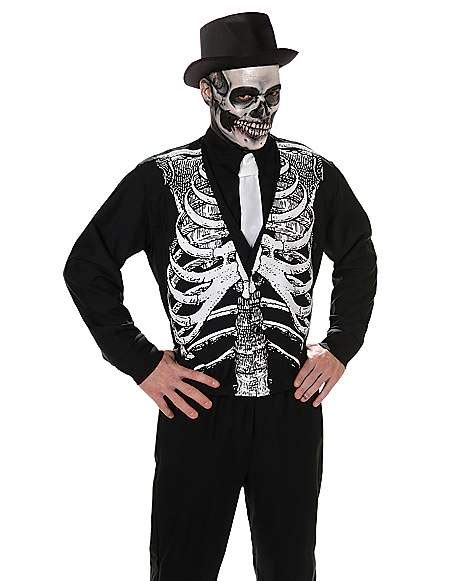 adult skeleton vest spirithalloweencom