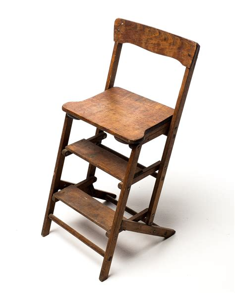 ch103 wooden step ladder chair acme studio