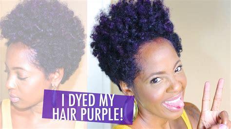 Manic Panic Ultra Violet Hair Dye On Natural Hair Youtube