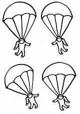 Coloring Parachute Parachutes sketch template