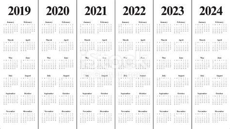 year calendar vector design template