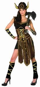 Déguisement barbare femme : Costume viking